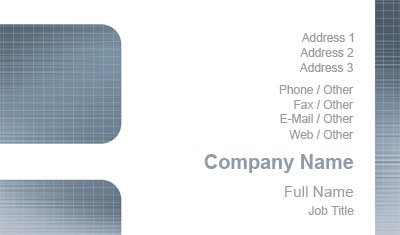 White and Grey Grid Business Card Template